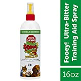 SynergyLabs Fooey! Ultra-Bitter Training Aid Spray - Chewing, Biting, Licking Deterrent for Dogs, Cats, Horses, Rabbits, Ferrets, Birds - Safe for Pet's Skin - Can Also Protect Garden from Deer and Pests (16 oz.)