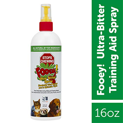 Ultra-Bitter Training Aid Spray – Chewing, Biting, Licking Deterrent for Dogs, Cats, Horses, Rabbits, Ferrets, Birds – Safe for Pet's Skin – Can Also Protect Garden from Deer and Pests (16 oz.)