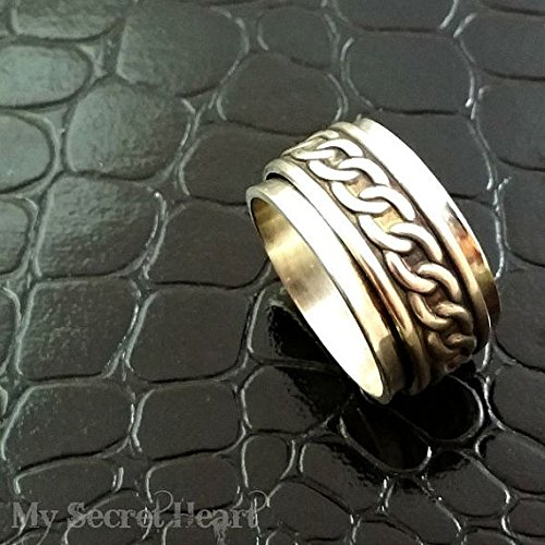 Meditation Ring Donovan Unisex Bdsm Can Be Personalized Commitment Jewelry