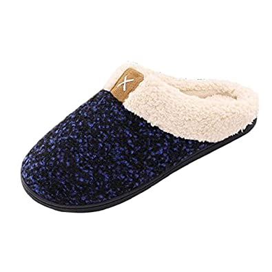 a553385214a Amazon.com  Women Men Cozy Memory Foam Cartoon Mute Winter Home Faux Fur  Casual Cozy Plush Toddler Slippers Keep Warm Interior Loafers Non-Slip  Indoors ...