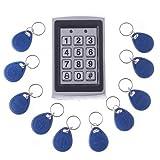 TOOGOO(R) RFID Entry Metal Door Lock Access Control System + 10 Key Fobs
