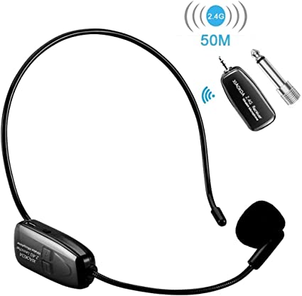 Amazon Com Wireless Microphone Headset Xiaokoa 2 4g Wireless Mic 50m Stable Wireless Transmission Headset And Handheld 2 In 1 For Voice Amplifier Camera Recording Speaker Xiaokoa Musical Instruments
