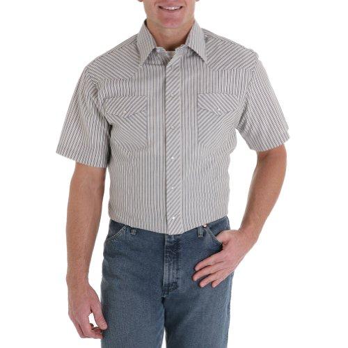 Wrangler Men's Assorted Classic Shirts Tall Stripe XXX-Large Tall (Stripe Tall Western Shirt)