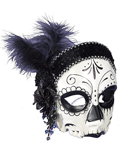Day Dead Flapper Half Mask
