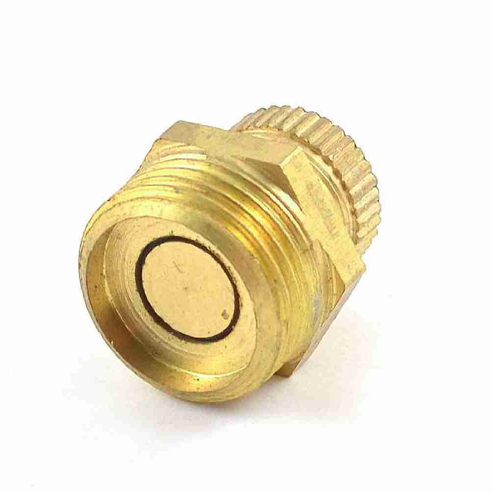 Move&Moving(TM) Air Compressor Part Metal Water Drain Valve 3/8' PT Male Thread Gold Tone