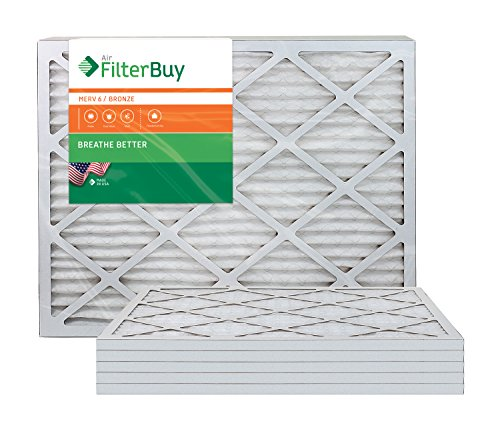 Direct Factory Replacement Furnace (AFB Bronze MERV 6 14x30x1 Pleated AC Furnace Air Filter. Pack of 6 Filters. 100% produced in the USA.)