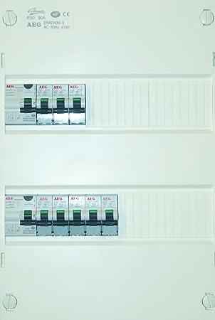 Attractive AEG AUN078215 Tabelle 2 Inter Differential 8 Leistungsschalter Für Eine  Wohnung Inferieur Bis 35 M