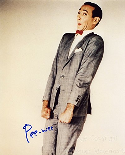 Photo Herman Signed - Pee Wee Herman Signed Autographed 8x10 Inch Photo Print