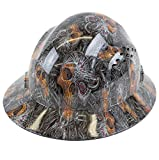 RK Safety RK-HP44-SKULL Hard Hat Brim Style with 4 Point Ratchet Suspension, 1EA