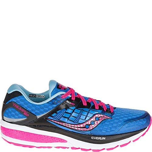 Saucony Women's Triumph ISO 2 Running Shoe, Blue/Pink, 5 M US