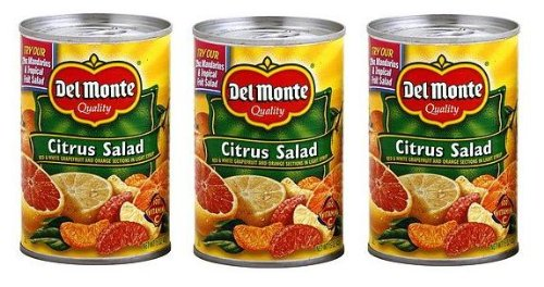 Del Monte Citrus Salad with Grapefruit & Orange (Pack of 3) 15 oz Cans