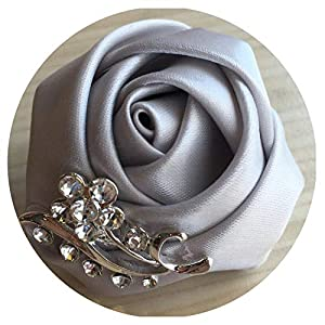 HuaHua-Store Bride Corsage Groom Wedding Rose Flowers Boutonniere Prom for Best Man Bride Corsage Men Suit Brooches 48