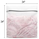 4Pcs Durable Honeycomb Mesh Laundry Bags for