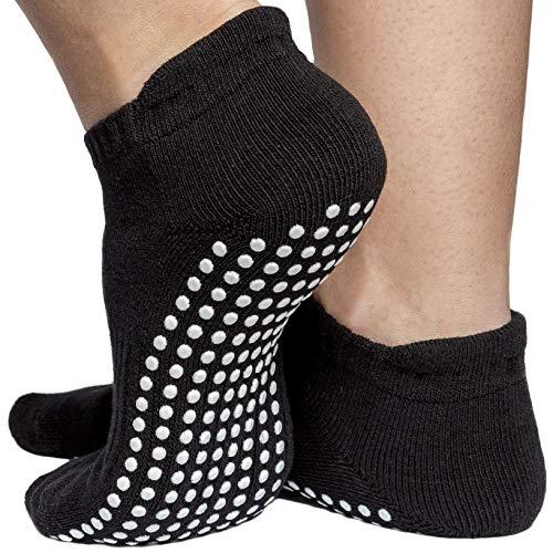 Non Slip Socks Women & Men- Pure Barre, Pilates, Piyo, Yoga & Hospital - Sticky Anti Skid Grip Socks [3 Sizes]