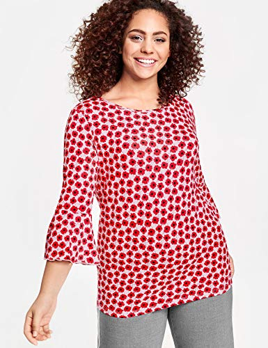 Samoon Manches Longues 3022 Gemustert Multicolore Femme shirt marshmallow À T rIpIt