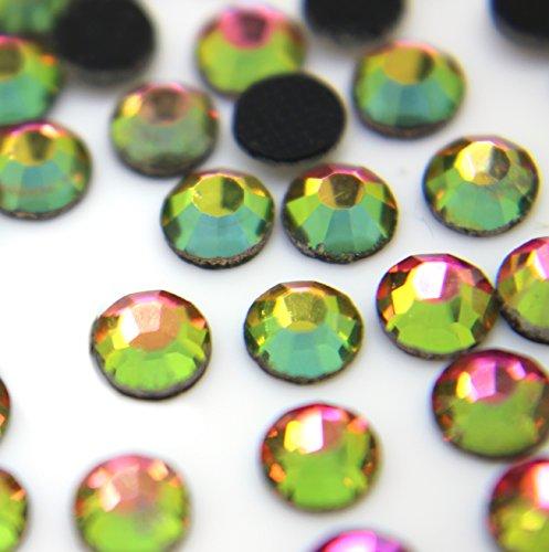 Zbella Crystal Hot Fix Rhinestones 10 Gross (1440 Stones/pkg) Hotfix Rhinestones (ss10, Rainbow)