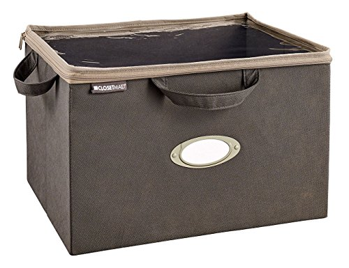 Wood Underbed Storage - ClosetMaid 31494 On-Shelf Fabric Storage Bag, Gray