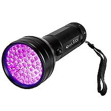 OxyLED 51 LED 395 nm UV Ultraviolet Blacklight Flashlight - Spot Scorpions, Pet Urine, Counterfeit Money, Bed Bugs, Minerals, Leaks