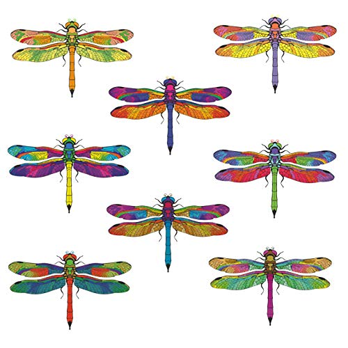 Anti-Collision Window Clings to Prevent Bird Strikes on Window Glass - Dragonfly Window Clings (Set of 8) (Window Summer)
