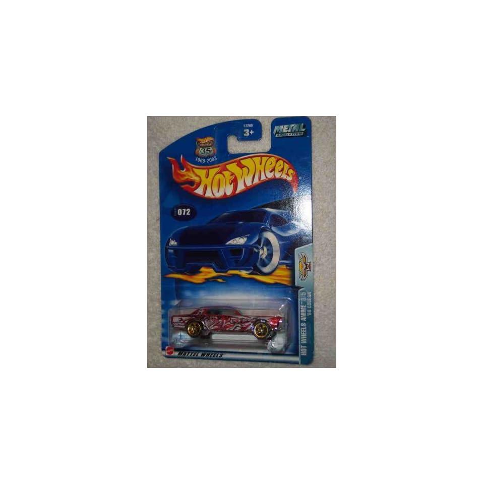 Hot Wheels Anime Series #3 68 Cougar Chrome Base #2003 72 Collectible Collector Car Mattel Hot Wheels
