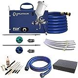 Fuji Q4 Platinum Quiet HVLP Spray System w/ 5 Pressure Tube & Accessories Bundle