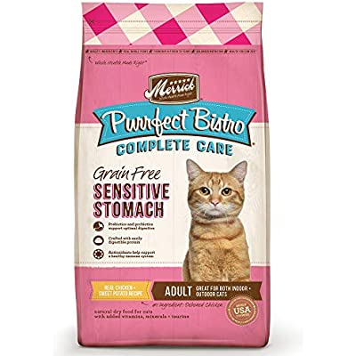 Merrick Purrfect Bistro Complete Care Sensitive Stomach Recipe Dry Cat Food, 7 lbs.