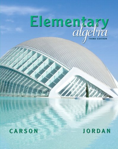 Elementary Algebra (Carson Developmental Algebra Series)