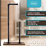 KIBAGA Rustic Toilet Paper Holder Stand
