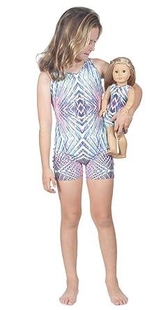 9ea1eef75 Amazon.com  Delicate Illusions High End Girls Unitard Triple Strap ...
