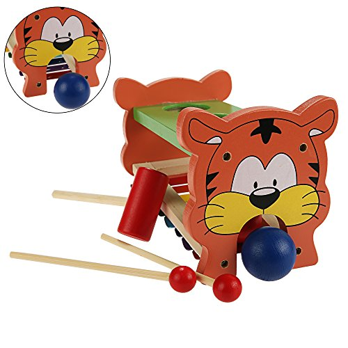 Funmily 2 in 1 Pound and Tap Bench with Slide Out Xylophone Wooden Music Toy for Kids by Funmily (Image #2)
