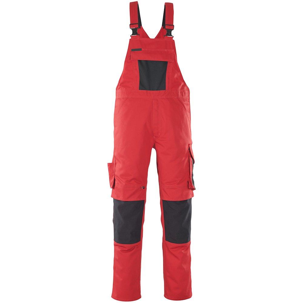 Mascot 12069-203-0209-82C50''Leipzig'' Bib & Brace, L82cm/C50, Red/black