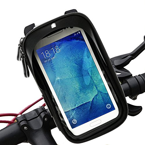 Best Buy! Bike Bags Handlebar Bicycle Phone Bag, Sensitive Water Resistant Touch Screen for iPhone 5...