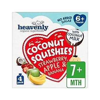 Himmlischen Kokosnuss Squishies Erdbeere - Apfel & Banane 360G - Packung mit 6