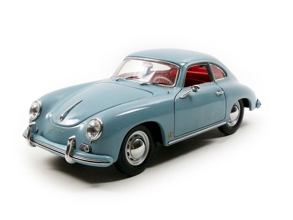 Sunstar 1329 – Vehículo miniatura – Porsche 356 A, 1500 GS – carrera GT – Escala 1/18, Meiszlig;en Blue