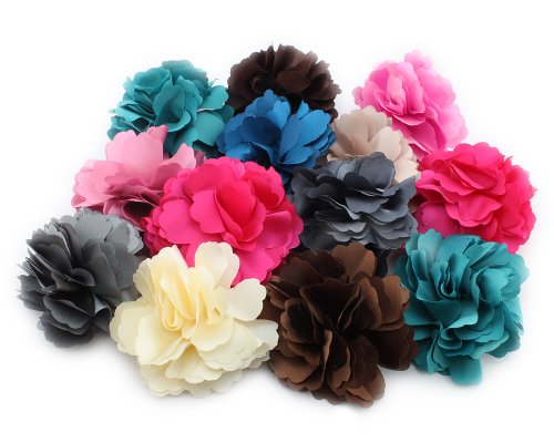 Farbe Blumen Haarklammer Random Satin Brosche Haarclip Haarspange Dame BwHx07W