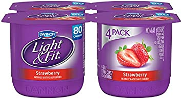 Dannon, Light U0026 Fit Strawberry Nonfat Yogurt, 6 Oz, ... Ideas
