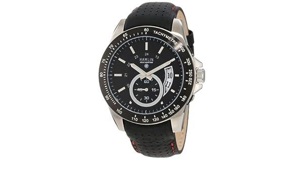Amazon.com: Hamlin Mens HAQM0504:002 Aqua Maritime All Terrain Stainless Steel Racer Sub Second Hand Watch: Watches