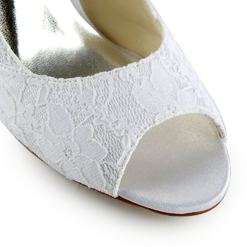 White Minitoo Lace Pumps Wedding Womens qwxZITfw