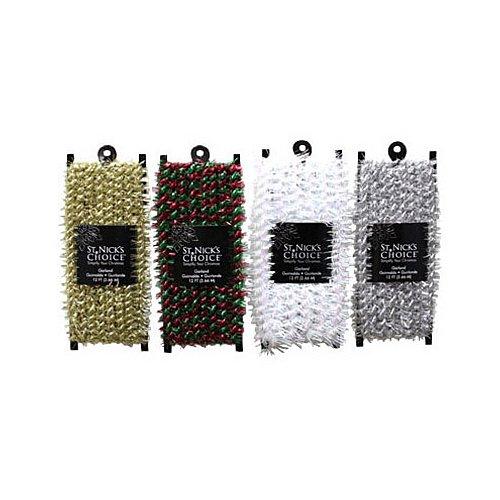 (dyno seasonal solutions 5710-5010cc 18-Feet, Mini Marabou Tinsel Garland, Assorted, 4 Styles)