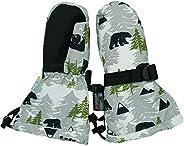 Jan & Jul Waterproof Winter Snow and Ski Mittens Fleece-Lined Stay-on for Toddler Kids Boys (S: 2-4Y: B