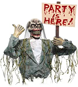 The Party Is Here Zombie Prop, Gray, [Office Product]