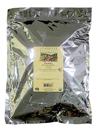Starwest Botanicals Organic Loose Cut and Sifted Nettle Leaf Tea, 2 Pound