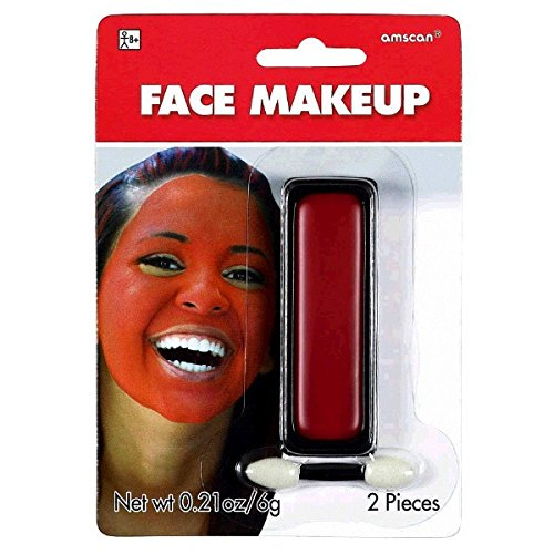 amscan Red Face Makeup Party Supply (2 Piece), Red -