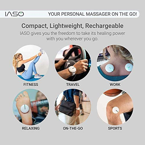 [IASO] Red Light Therapy Device and Massager- FDA-Registered, Pain Relief for Back, Foot, Neck, Shoulders, Wrists, Knees. Wearable, Compact, Rechargeable. All Inclusive Package (Double) 51Pow0DltYL
