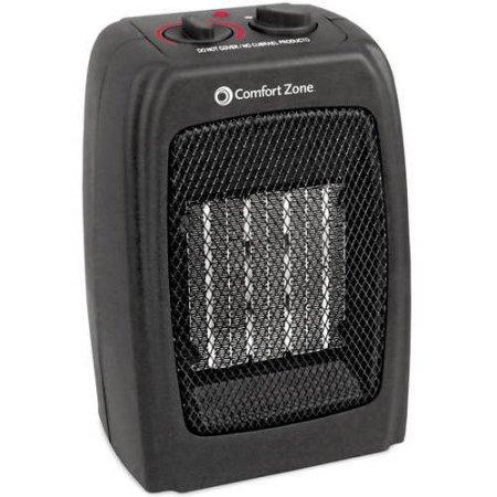Comfort Zone Ceramic Heater in Black