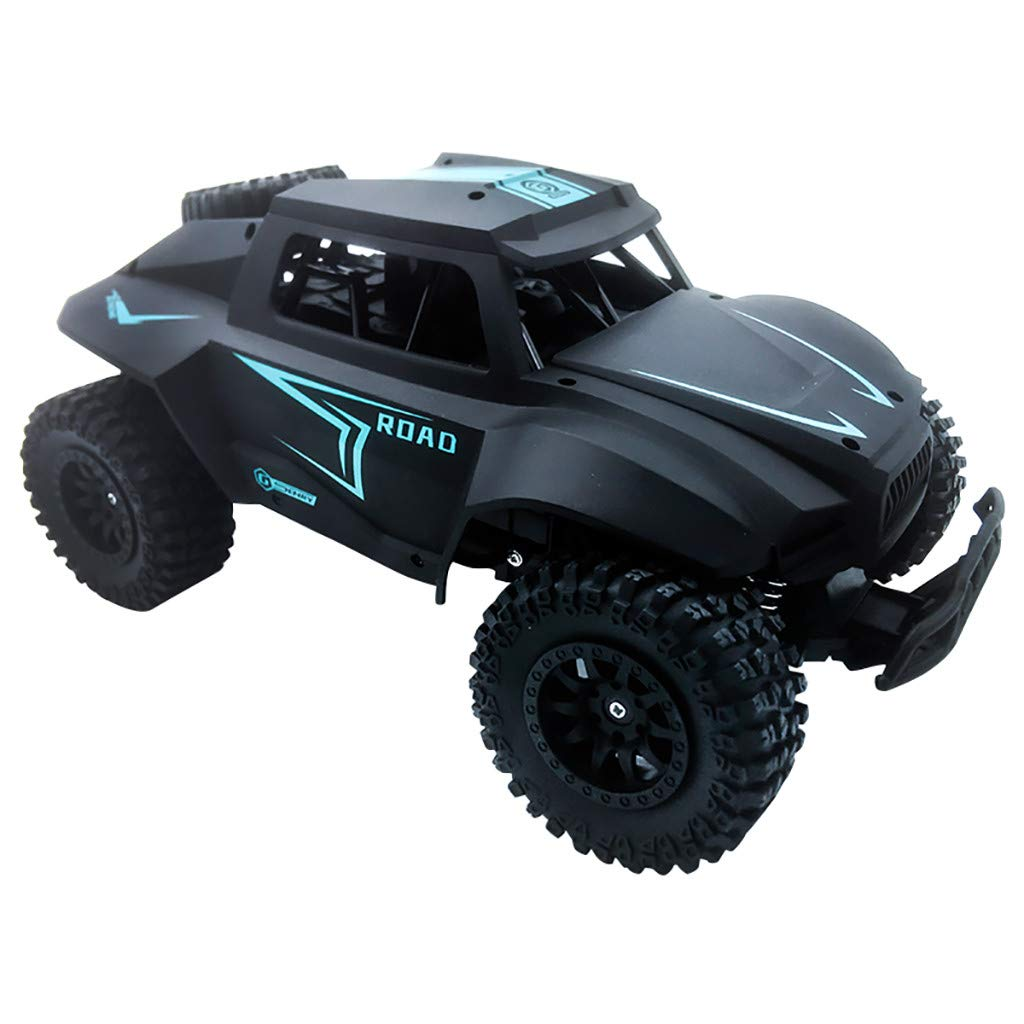 Hot  1:12 Big Wheel High Speed Off-Road RC Car 2WD 4-Channel Control 20km/h High-Speed Big-Foot Off-Road Vehicle Toy Great Gift for Kids and Friends (♥ Black)