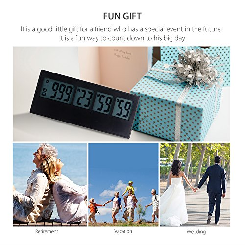 AIMILAR Digital Countdown Days Timer 999 Days Count Down Timer for Vacation Retirement Wedding Lab Kitchen