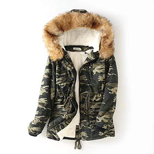 Di Da length Camouflage In Agnello Cotone Winter Nuovo Green Gaigai Femmina Pelle Donna Invernale New Piumino Long ax8wAq74