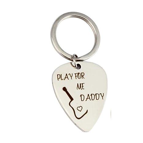 SZP Guitarra Pick Llavero, Llavero de Acero Inoxidable, día ...
