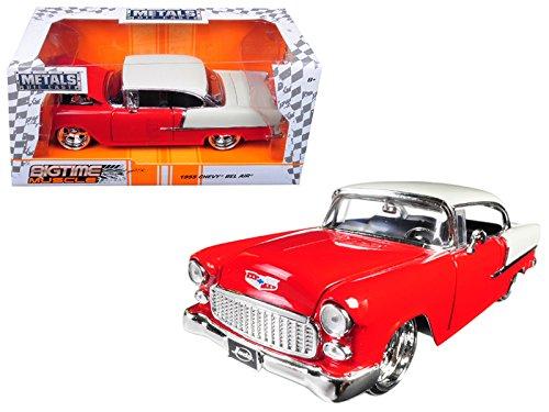 Jada 98938 1955 Chevrolet Bel Air Red Bigtime Muscle 1/24 Diecast Model Car (Bigtime Muscle Cars)